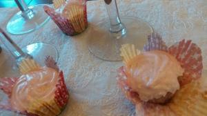 Cupcakes Fresa y crema de queso