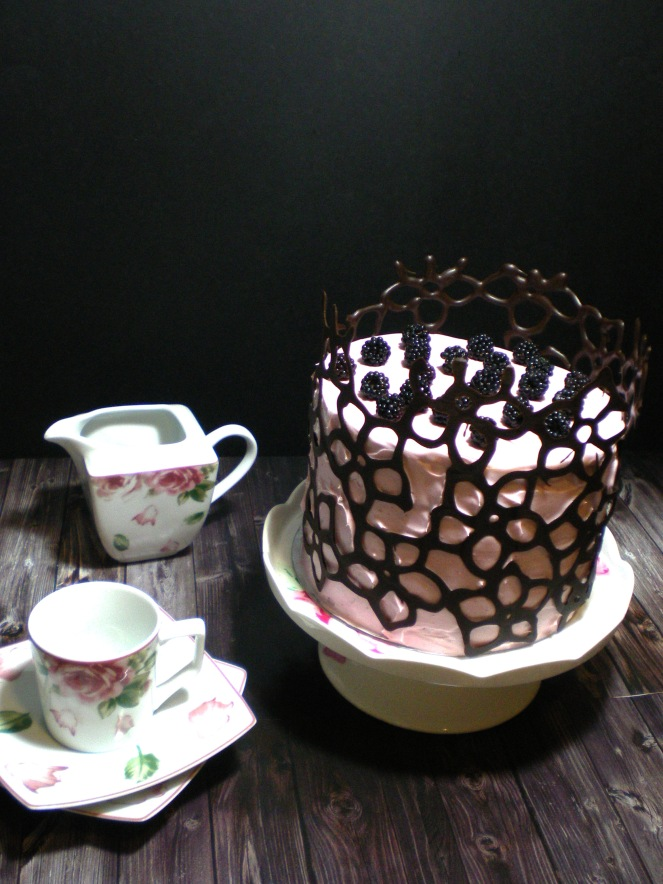 Layer cake de Chocolate y Mora
