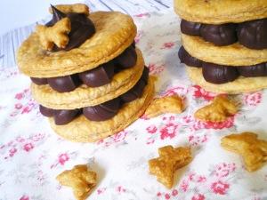 OCTUBRE: Milhojas de Chocolate y Setas Caramelizadas