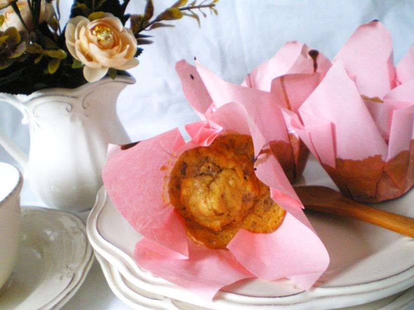 Muffins de Naranja, nueces y Chocolate