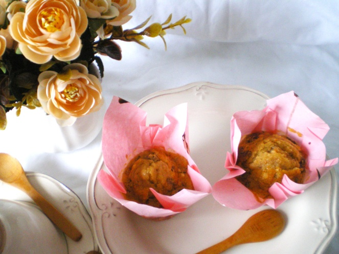 Muffins de Naranja, nueces y Chocolate