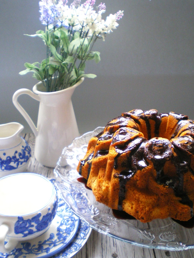 Bundt Cake de Avellanas y Chips de chocolate