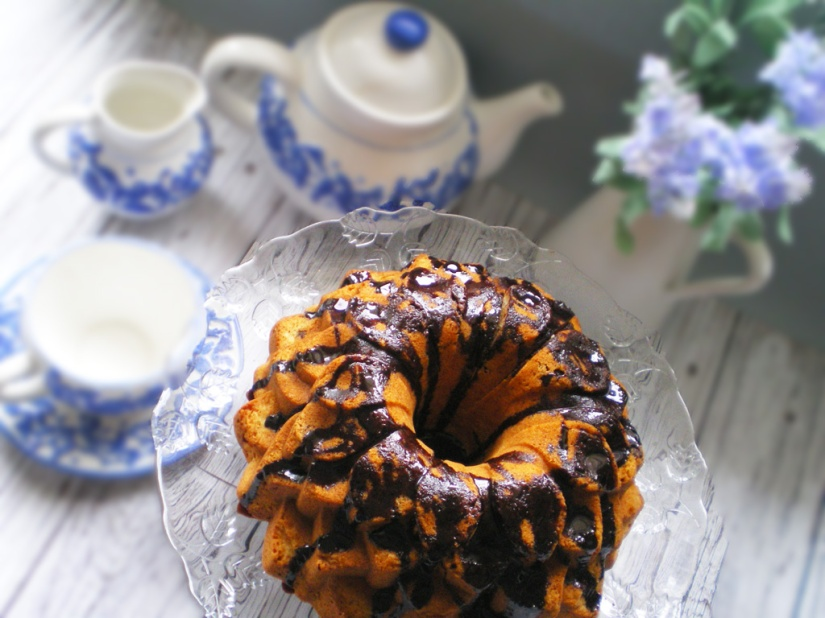 Bundt Cake de Avellanas y Chips de chocolate