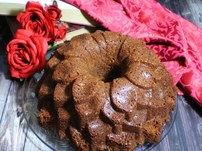 Bundt Cake de Chocolate al caramelo y Nueces