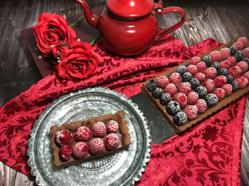 Tartaleta frambuesa y Chocolate